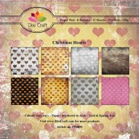 *Dixi Craft - Paper Pad - 15 x 15 - Christmas Hearts