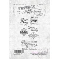Little Darlings rubber stamps - Vintage Affections -