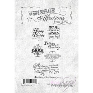 Little Darlings rubber stamps - Vintage Affections - Birthday Sentiments