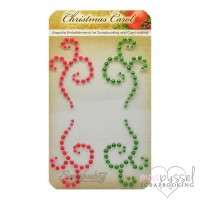 Scrapberrys - Christmas Carol - Pear swirls - Red and green