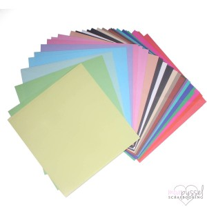 *Dovcraft - Coloured Paper 12 x 12 - 48 ark