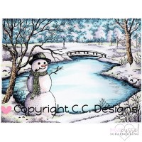 C.C. Designs - stamps - Winter Lake - JD1076