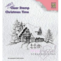 Nellie Snellen - Clear Stamp - Snowy House CT014