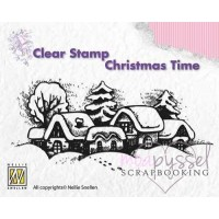 Nellie Snellen - Clear Stamp - Snowy Village CT009
