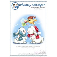 Whimsy stamps - Chrissy Armstrong - Christmas Bunny Kisses