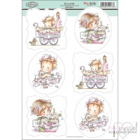 **Toppers a la Hobby House - Wee stamps - It´s a Girl