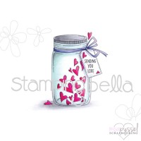 Stamping Bella - Mason Jar of Hearts eb391