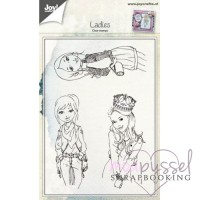 Joy - Set med clear stamps - Ladies