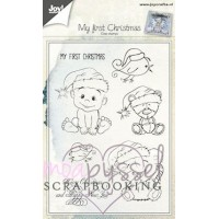 Joy - Set med clear stamps - My first Christmas