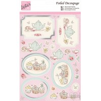 *Foiled Decoupage - Anita´s - Tea and Cake