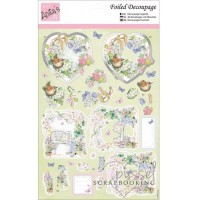*Foiled Decoupage - Anita´s - Sitting in the Garden