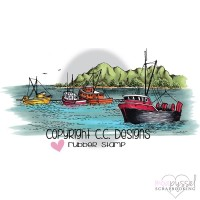 C.C Designs - stämpel - Boat Harbor - JD1090