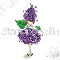 Stamping Bella - Tiny Townie Garden Girl Lilac eb451