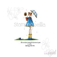 Stamping Bella - Uptown girl Lolly and her brolly eb119