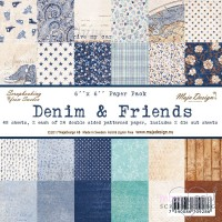 *Maja design - Denim and Friends - 6 x 6 inch - ej fraktfritt