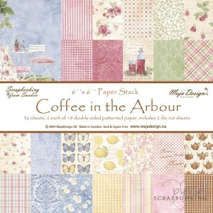 *Maja design - Coffee in the Arbour - 6 x 6 inch - ej fraktfritt