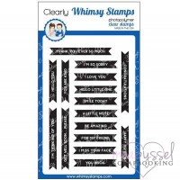 Whimsy stamps - stämpelset - Bold Banners