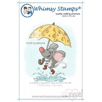 Whimsy stamps - stämpel - Puddle Jumpin Mouse - Krista Heij-Barber