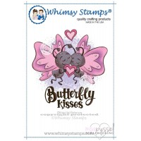 Whimsy stamps - stämpel - Butterfly Kisses - Krista Heij-Barber