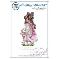 Whimsy stamps - Elisabeth Bell - Bella Sole Collecting Daisies