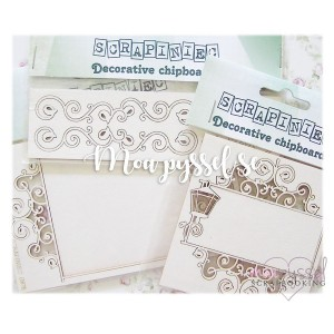 Set med chipboards - Set 2 - Swirls