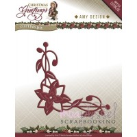 Amy Design - Christmas Greetings - Poinsettia Corner