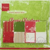 Marianne design - 6 x 6 paper pad - Classic Christmas