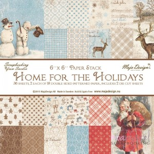 *Maja design - Home for the Holidays - 6 x 6 inch - ej fraktfritt