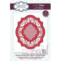 Dies - Sue Wilson - Festive Collection - Holly Lattice Frame CED3125