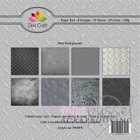 *Dixi Craft - Paper Pad - 15 x 15 - Steel Background