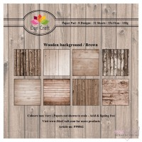 *Dixi Craft - Paper Pad - 15 x 15 - Wooden Background Brown