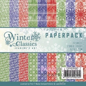* Jeanines art - Winter Classics - Paperpack 23 sheets 170 gr