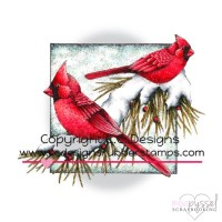 C.C Design - stämpel - Winter Cardinals JD1035