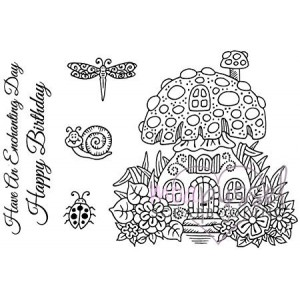 Clear stamp set - Sweet Dixie - Toadstool House
