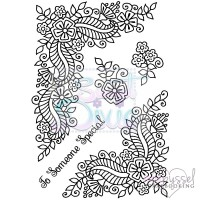 Clear stamp set - Sweet Dixie - Fantasy Flower Corners