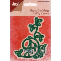 Dies - Joy - Happy Holidays - Holly Leaves 6002/2047