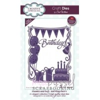 Dies - Sue Wilson - Frames and Tags - Birthday Party CED4337
