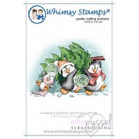 Whimsy stamps - Penguins Carry the Tree