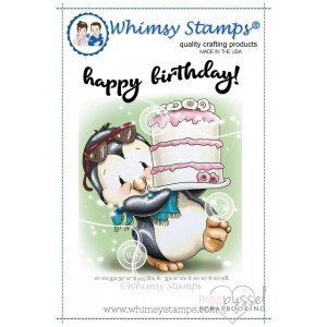 Whimsy stamps - Penguin Cake