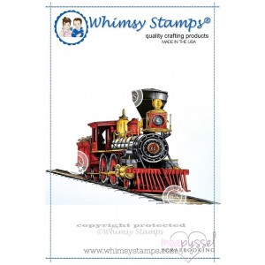 Whimsy stamps - Old West Locomotive