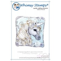 Whimsy stamps - Unicorn Framed