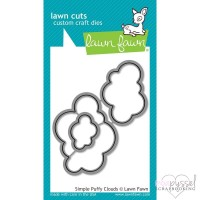 Lawn Fawn - dies - Simply Puffy Clouds