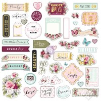 Prima Marketing - Misty Rose - Ephemera and stickers