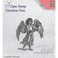 Nellie Snellen - Clear stamp - Angel with Lantern CT021