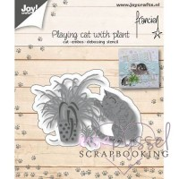 Joy crafts - Dies - Playing cat with plant 6002/1127